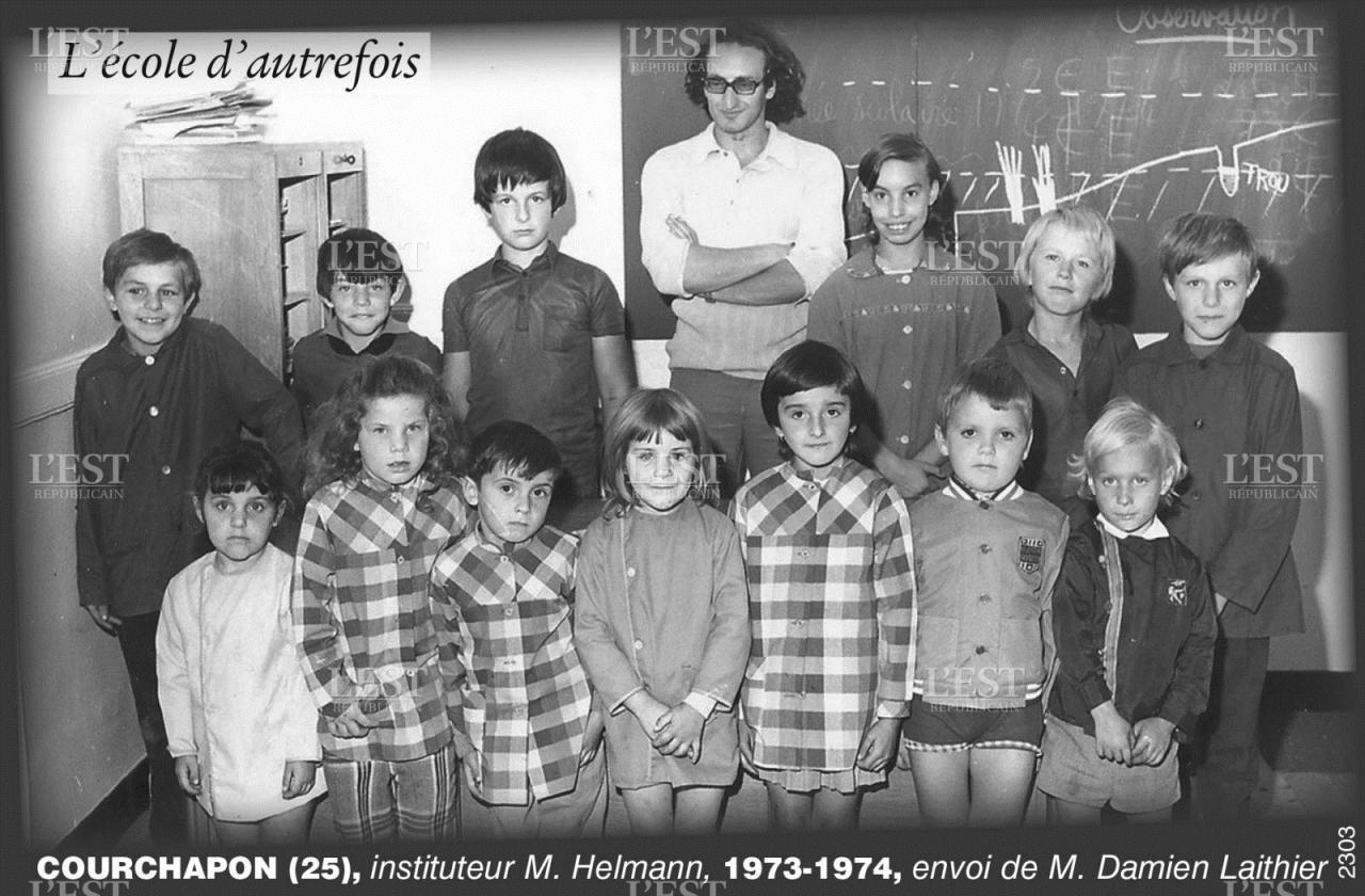 école courchapon 1973-1974